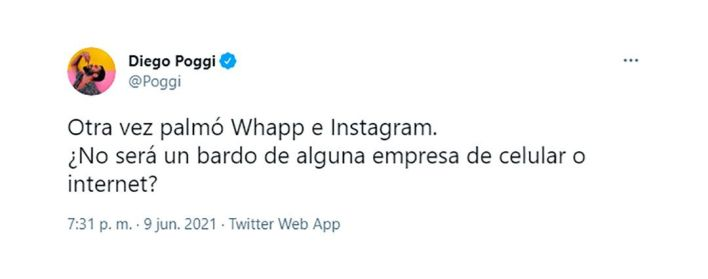 tuits Se cayó WhatsApp