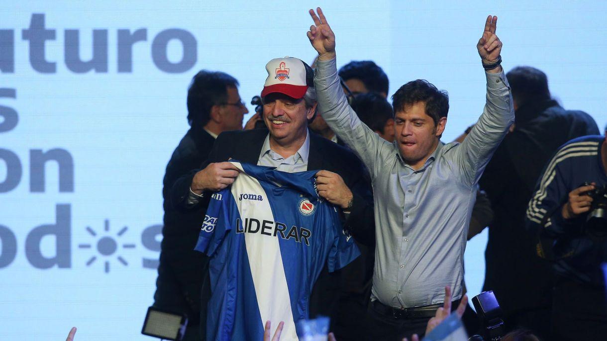 Alberto Fernández con Kicillofel domingo a la noche