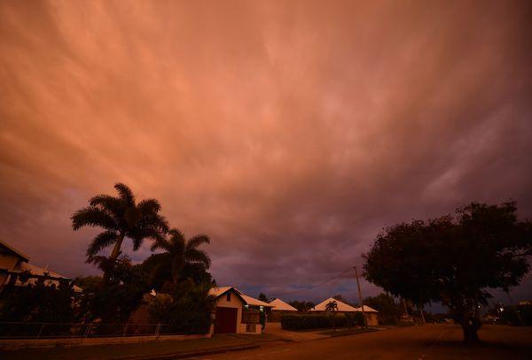 Las nubes enAyr, en el norte de Queensland (AFP)