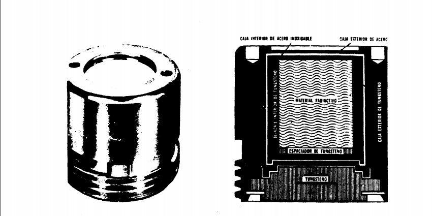 El corazón de la bomba de cobalto que fue perforado por los trabajadores (imagen: Infome CNSNS)