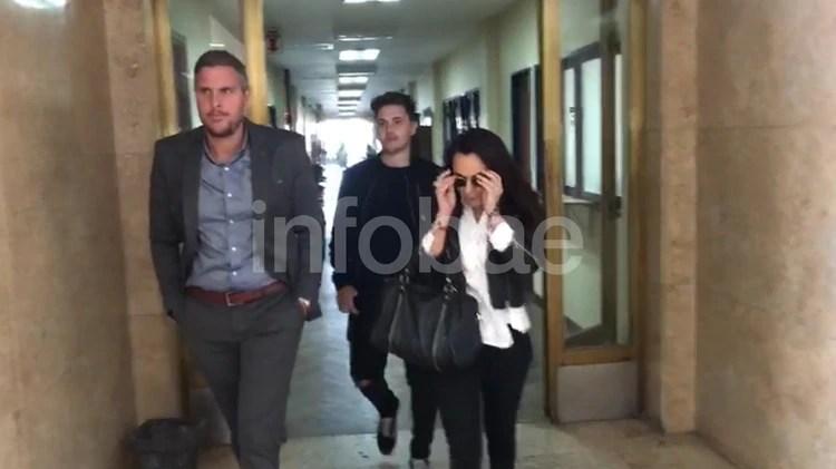 Carolina Pochetti en Comodoro Py, cuando fue a notificarse de su liberación