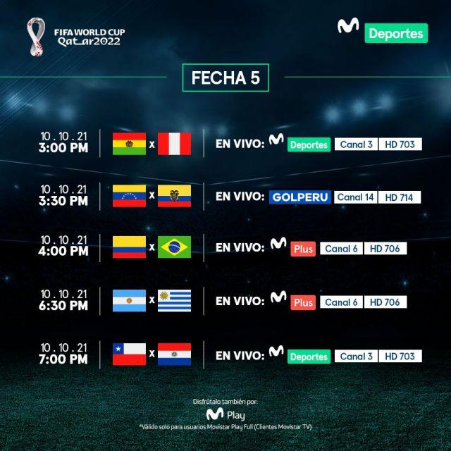 Movistar Deportes: fecha 5