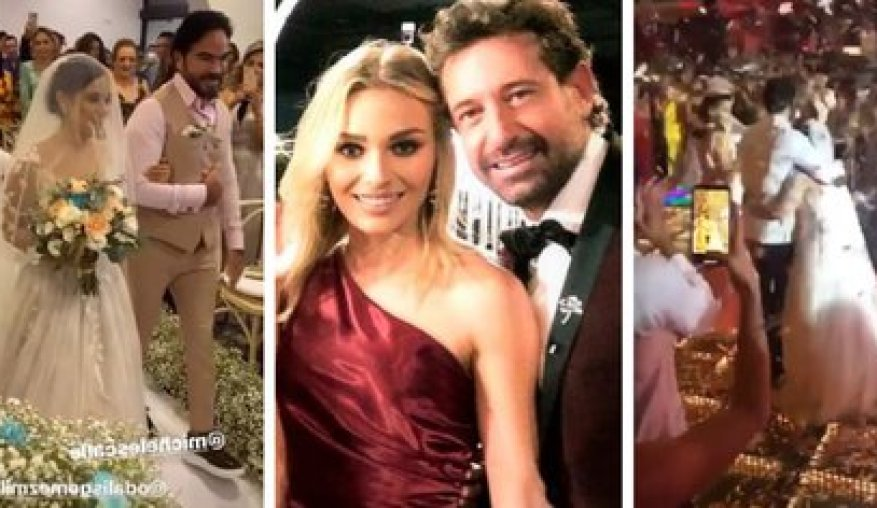 Gabriel Soto and Irina Baeva traveled to Cancun at the end of November to attend a massive wedding, despite the fact that in Mexico City, where they reside, Governor Claudia Sheinbaum had insisted on the need to avoid parties due to the increase in hospitalizations and infections (Photo: Instagram)