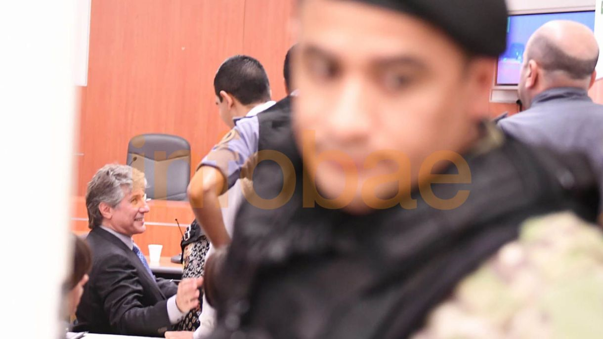 Boudou, en la sala del juicio oral