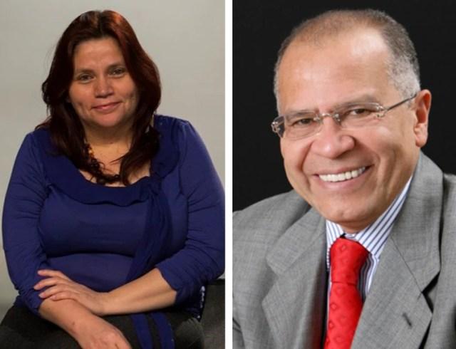 La periodista Claudia Julieta Duque y el exfiscal Alfonso Gómez Méndez.