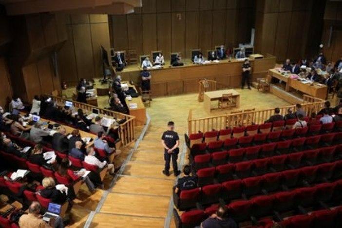 La sala del Tribunal de Atenas que condenó a los líderes de la organización neonazi (REUTERS/Alkis Konstantinidis)