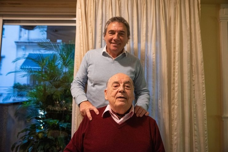 Juan Carlos Saravia y su hijo, Facundo (Foto: Franco Fafasuli)