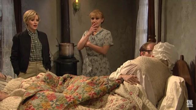 Claire Foy en Saturday Night Live (SNL/NBC)