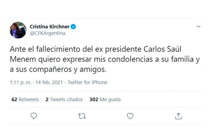 Cristina Fernández de Kirchner - menem