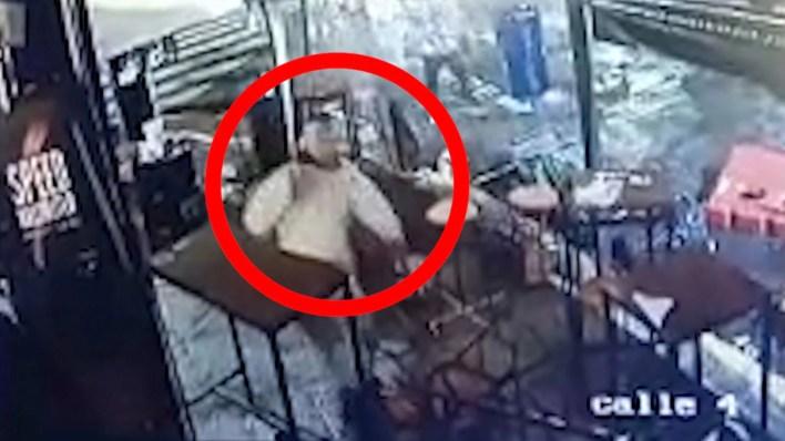 Así le dispararon a un hombre en un bar en Palermo