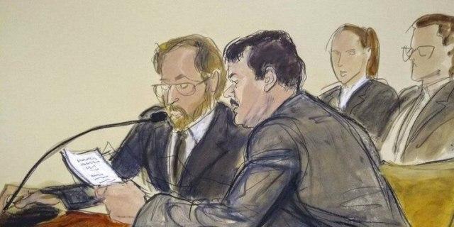 El juicio a Guzmán Loera fue considerado el juicio del siglo (Foto: AP)