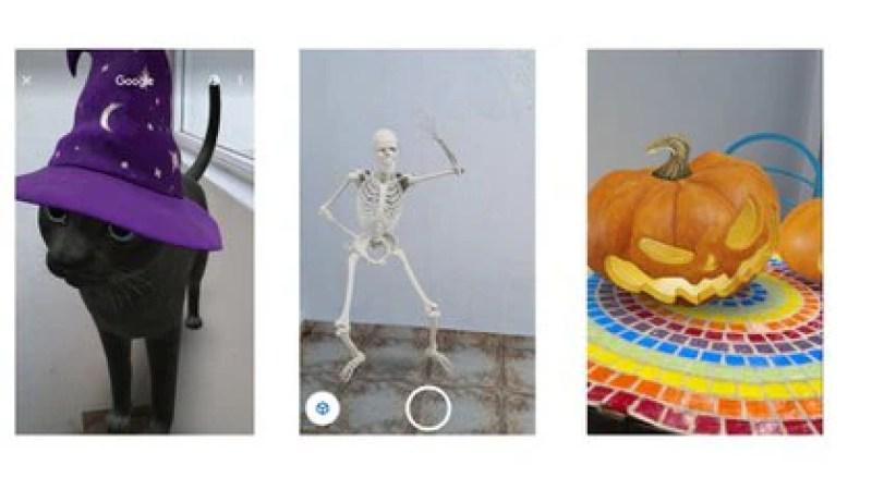 Google añadió objetos en 3D al buscador para celebrar Halloween