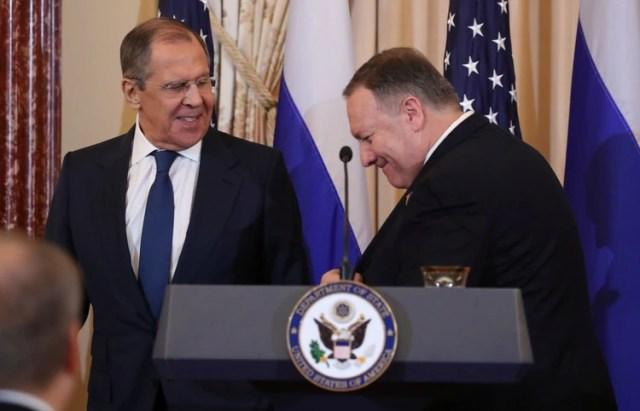 Sergey Lavrov se reunió con Mike Pompeo en Washington (REUTERS/Jonathan Ernst)