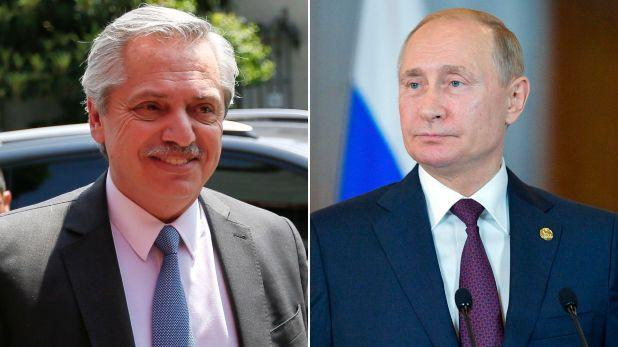 Alberto Fernández y Vladimir Putin dialogaron telefónicamente el 6 de noviembre pasado sobre la gestión para que lleguen las vacunas rusas a la Argentina