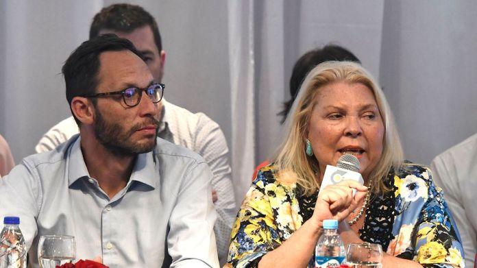 Elisa Carrió y Maximiliano Ferraro, de la Coalición Cívica