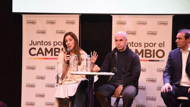 María Eugenia Vidal junto a Horacio Rodríguez Larreta (Franco Fafasuli)