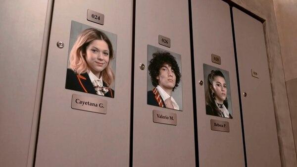 Jorge López, Georgina Amorós y Claudia Salas son los actores que darán vida a los nuevos alumnos en Élite (Foto: Captura de pantalla)