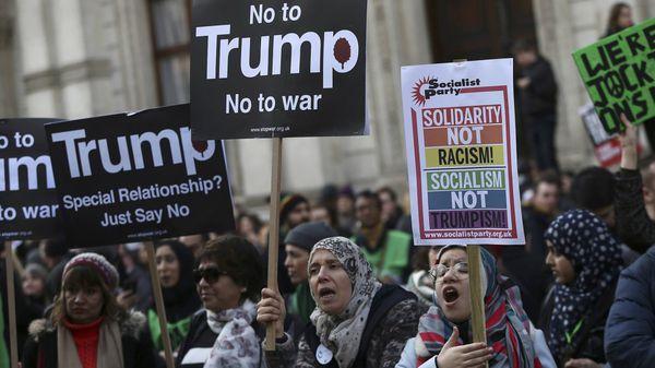 Las protestas por la primera versión del veto migratorio en Estados Unidos fueron masivas. (Reuters)