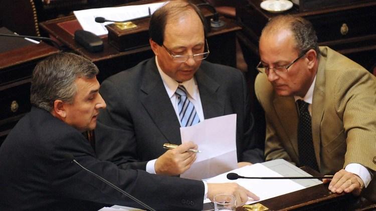 Marino junto a Gerardo Morales y Ernesto Sanz (NA)