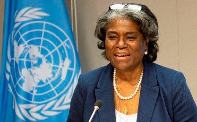 La embajadora estadounidense ante la ONU, Linda Thomas-Greenfield. EFE/EPA/JUSTIN LANE/Archivo
