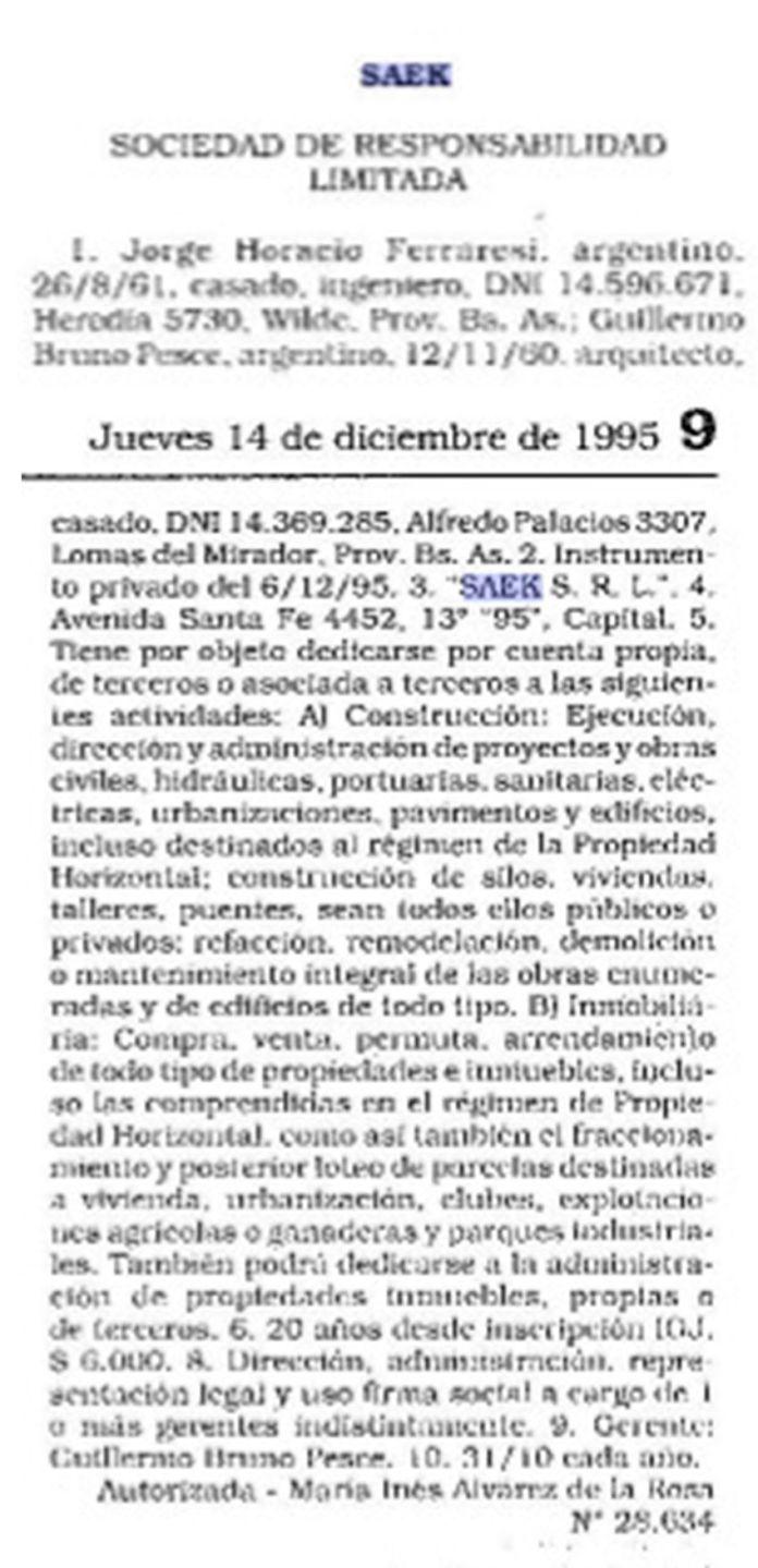 Jorge Ferraresi Empresas