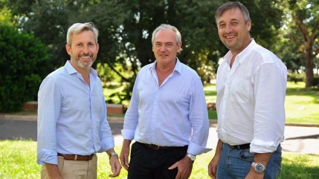Frigerio, Benedetti y Hein (Cambiemos Prensa)