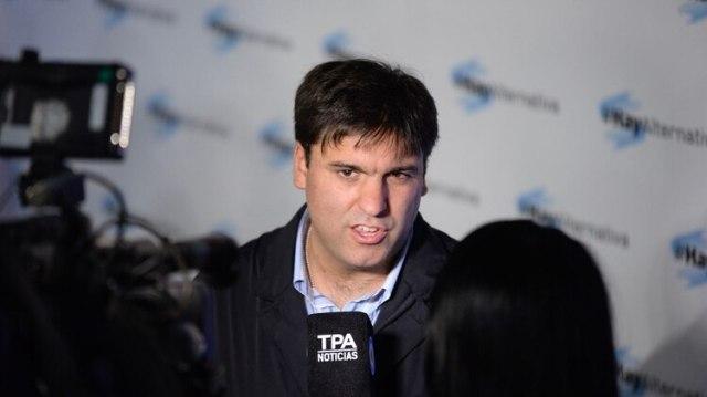 El diputado y jefe de campaña de Massa, Diego Bossio, estuvo presente en el acto