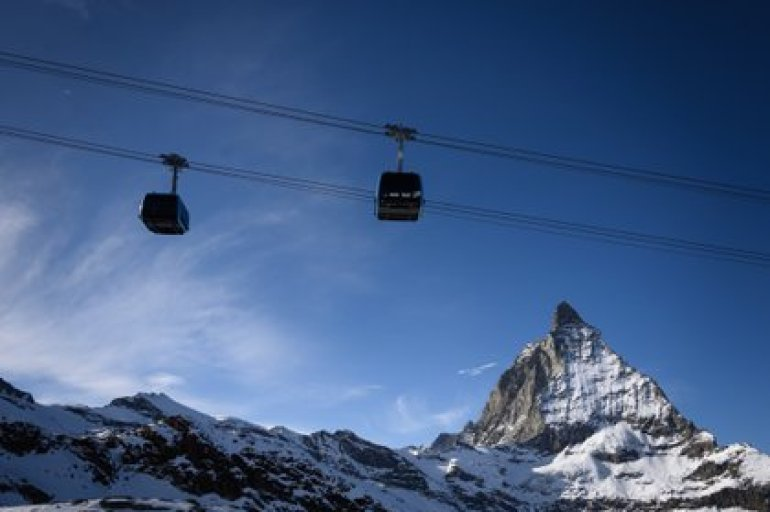 Zermatt is a perfect destination for a romantic getaway in the snow (Photo by Fabrice COFFRINI / AFP)
