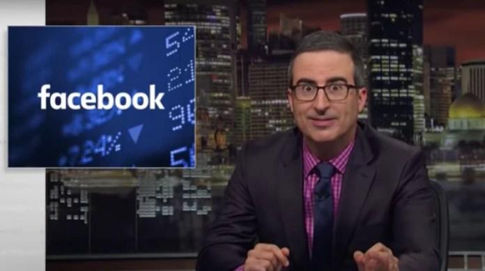 El comediante británicoJohn Oliver imaginó una versión realista del aviso de disculpas de Facebook