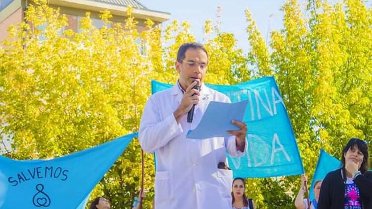 Leandro Rodríguez Lastra fue fuertemente apoyado por organizaciones en contra del aborto