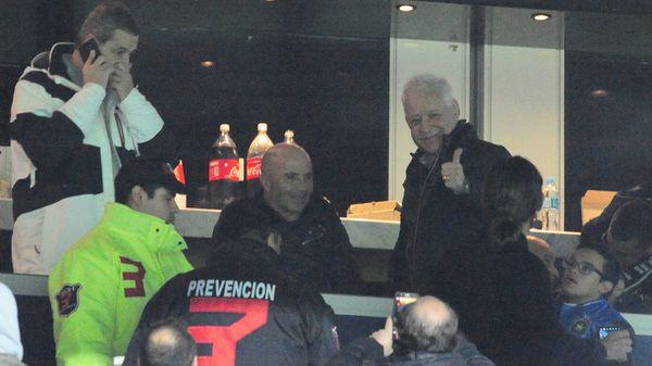 Sampaoli estuvo el sábado en un palco del Cilindro de Avellaneda (DyN)