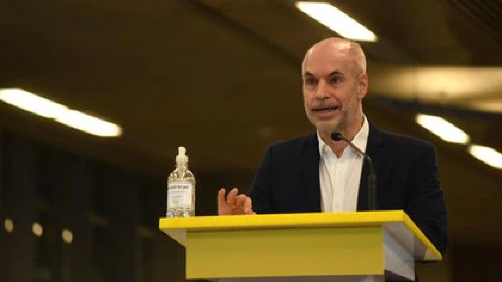 Horacio Rodríguez Larreta criticó la decisión presidencial de recortarle fondos. Hará un reclamo judicial.