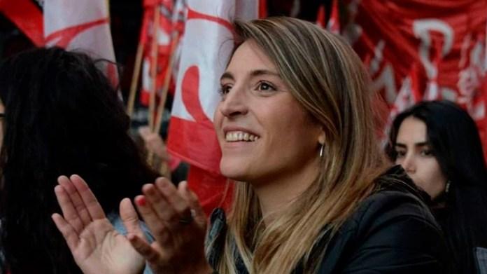 La dirigente de Izquierda Manuela Castañeira