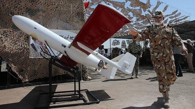 Un drone iraní Mohajer-2 (Tasnim Agency News Wikimedia CC BY 4.0)