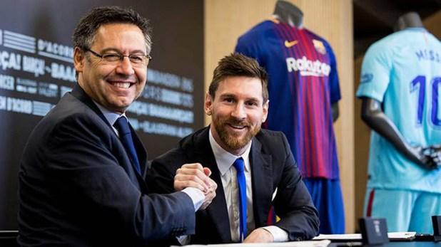 Lionel Messi tiene una tirante relación con Josep María Bartomeu (Reuters)