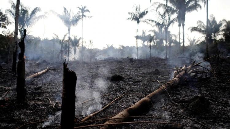 El presidente Bolsonaro culpó a las ONG de los incendios recientes (Reuters)