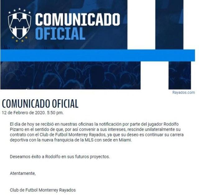 (Captura de pantalla: Rayados.com)