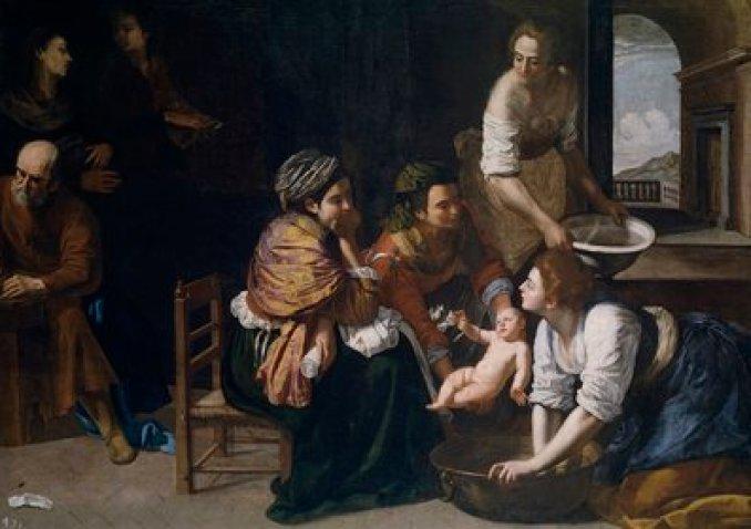 Nacimiento de san Juan Bautista (Artemisia Gentileschi)
