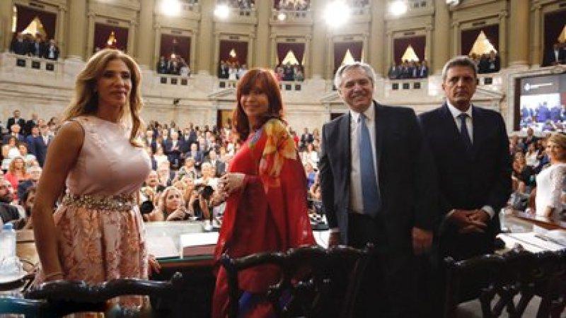 Claudia Ledesma Abdala, Cristina Kirchner, Alberto Fernández y Sergio Massa (Prensa Senado)
