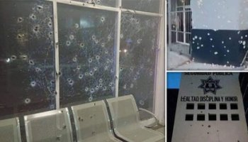 After an attack on the Juan Aldama headquarters, Zacatecas, 11 municipal police officers have not shown up for work, reported the Secretary of Public Security, Arturo López Bazán (Photo: Twitter / GHOSTDEVIIL)