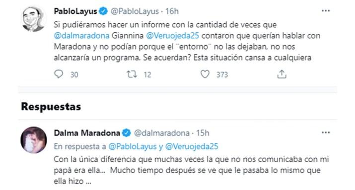 Dalma Maradona acusó a Verónica Ojeda de impedirle el contacto con Diego