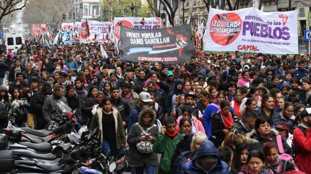 Para Daniel Menéndez, solo un noventa por ciento de las organizaciones piqueteras no están contenidas en el gobierno de Alberto Fernández. (Maximiliano Luna)