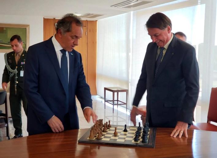 Daniel scioli y Bolsonaro
