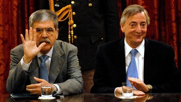 De Vido construyó su gestión como hombre de confianza de Néstor Kirchner, aunque no manejaba todo el poder de su área: es sabido que Kirchner le daba juego propio a Ricardo Jaime y José López (NA)