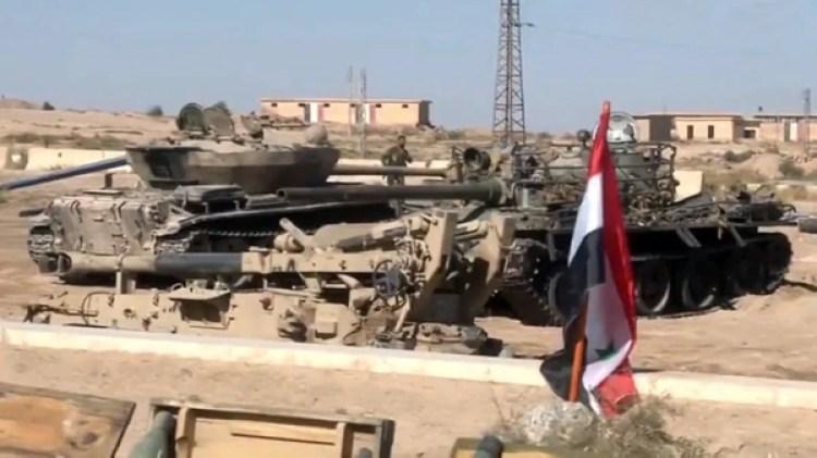 El Ejército Sirio secuestró también tanques