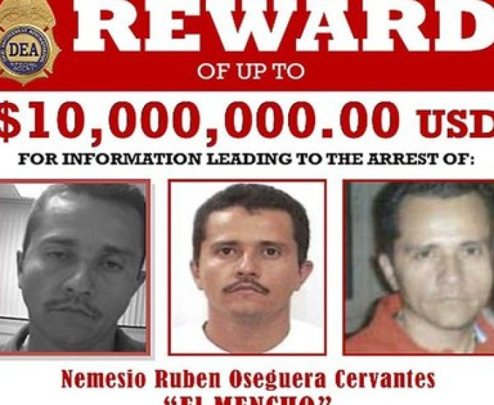 """The US State Department doubled the reward from USD 5 to 10 million for those who provide information leading to the capture of Nemesio Oseguera Cervantes, alias """"The Mencho"""", (Photo: DEA)"""