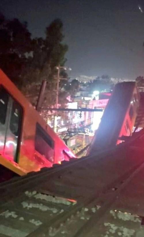 Así se veía el accidente desde arriba Foto: @kroseco25