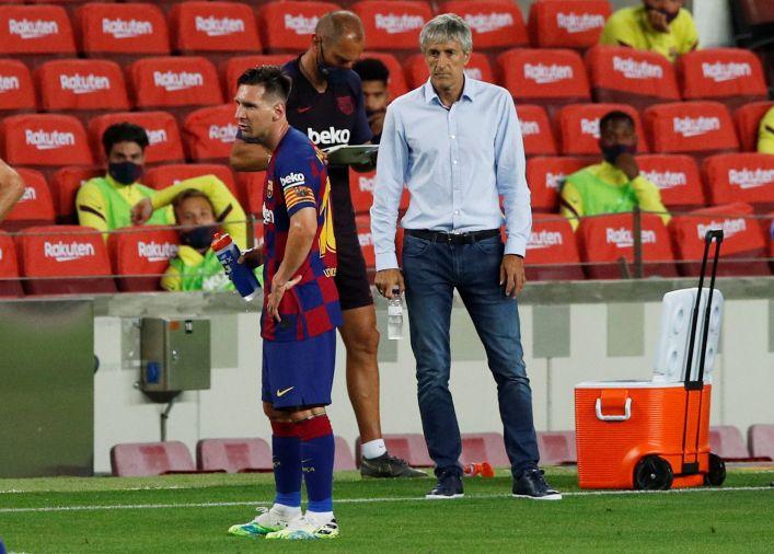 Desde España, aseguran que Setién tiene sus días contados como DT del Barcelona REUTERS/Albert Gea