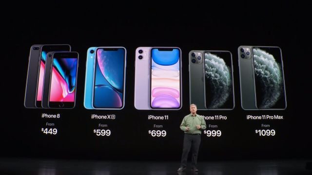 Los precios de los nuevos iPhones y de la generación anterior.