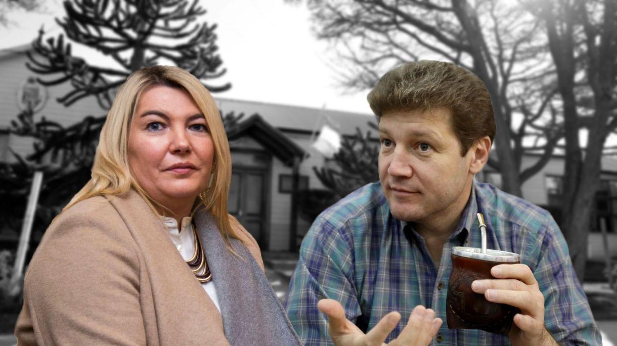 """Rosana Bertone y Gustavo Melella, dos adversarios alineados con el kirchnerismo, y uno de ellos """"imposibilitado"""" de respaldar la fórmula de los Fernández en las próximas elecciones."""